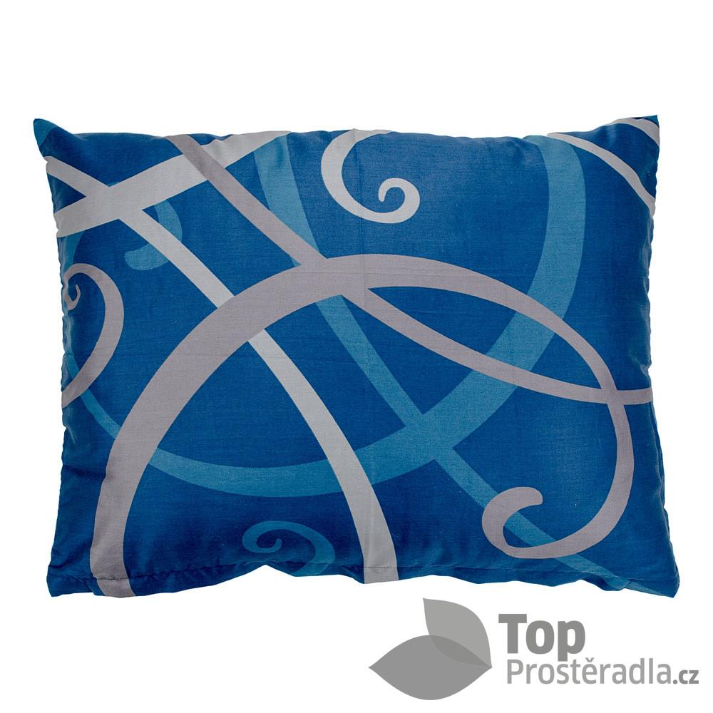 TOP Povlak na polštář saténový Waves modrý 70x90