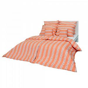 Bavlněné povlečení 140x200+70x90 - Barunka oranžová