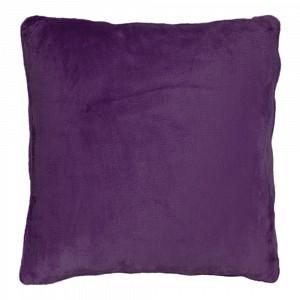 Povlak na polštářek mikroflanel 45x45 Tmavě fialová