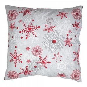 Vánoční povlak VLOČKY na šedém 40x40
