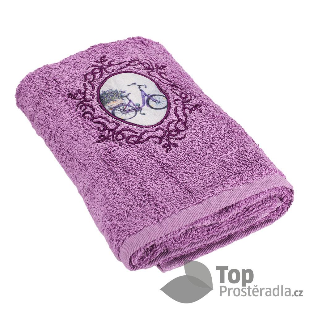 TP Froté ručník LIMITED - Velocipéd fialová