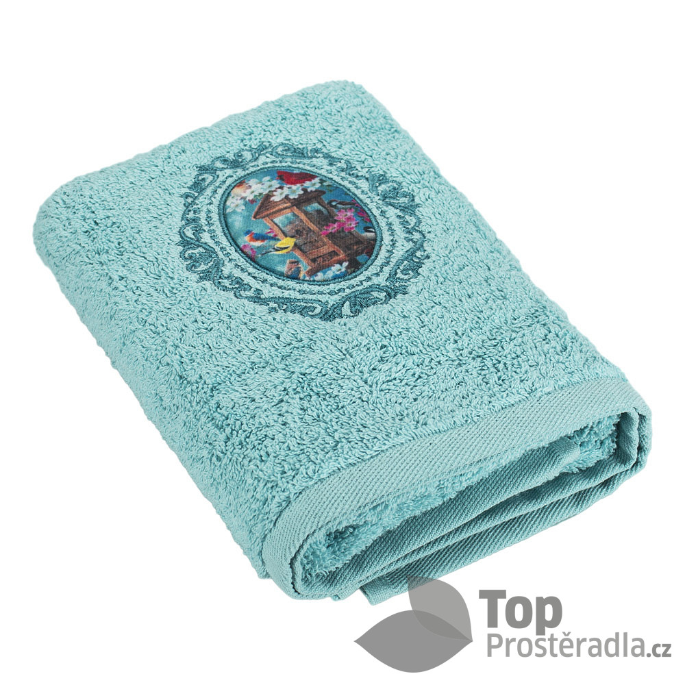 TP Froté ručník LIMITED - Krmítko tyrkysová