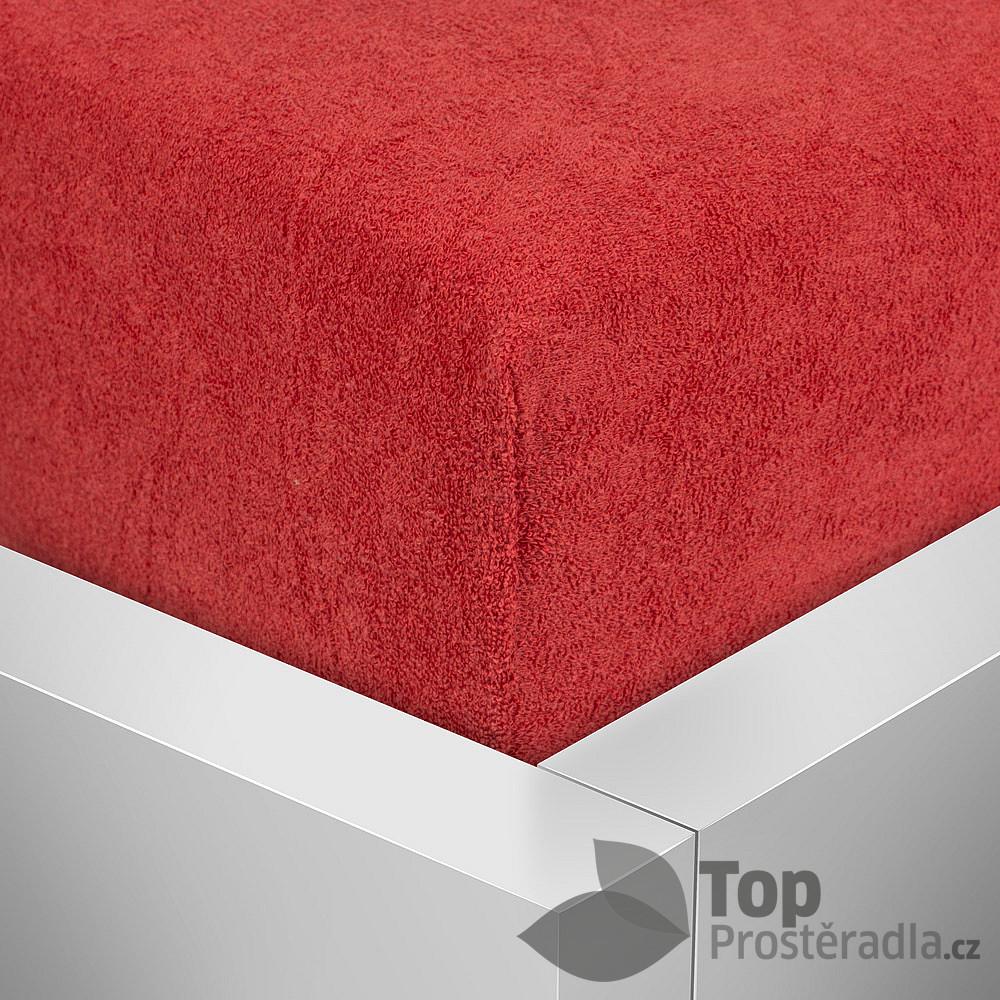 Levně TP Froté prostěradlo Premium 180g/m2 220x200 Červená