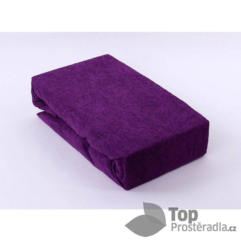 Froté prostěradlo (220 x 200) Premium - Tmavě fialová ... 24351be0142