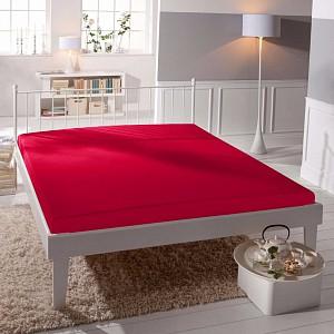 Jersey prostěradlo (220 x 200) Premium - Červená