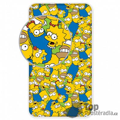 Levně TOP Dětské bavlněné prostěradlo 90x200 The Simpsons family Green